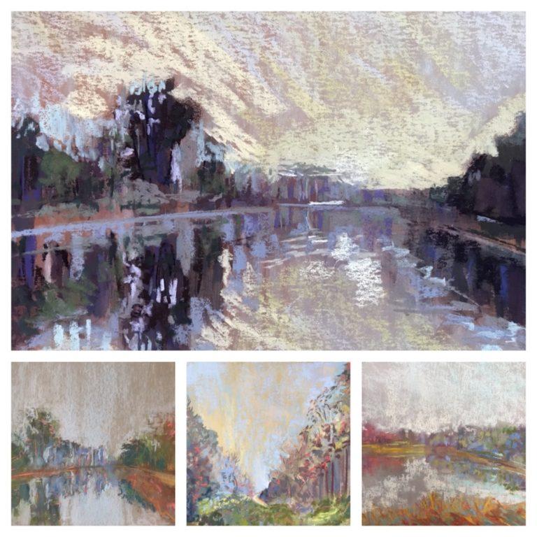 Various pastel landscapes.