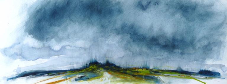 A landscape pastel painting by Libby Scott