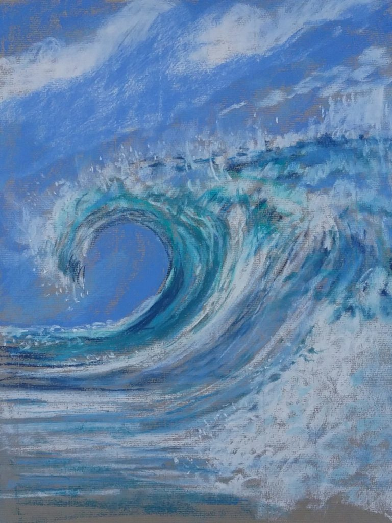 Wave, in pastel.