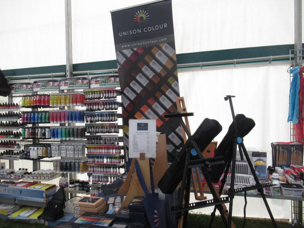 The Unison Colour display at Patchings Trade Fair