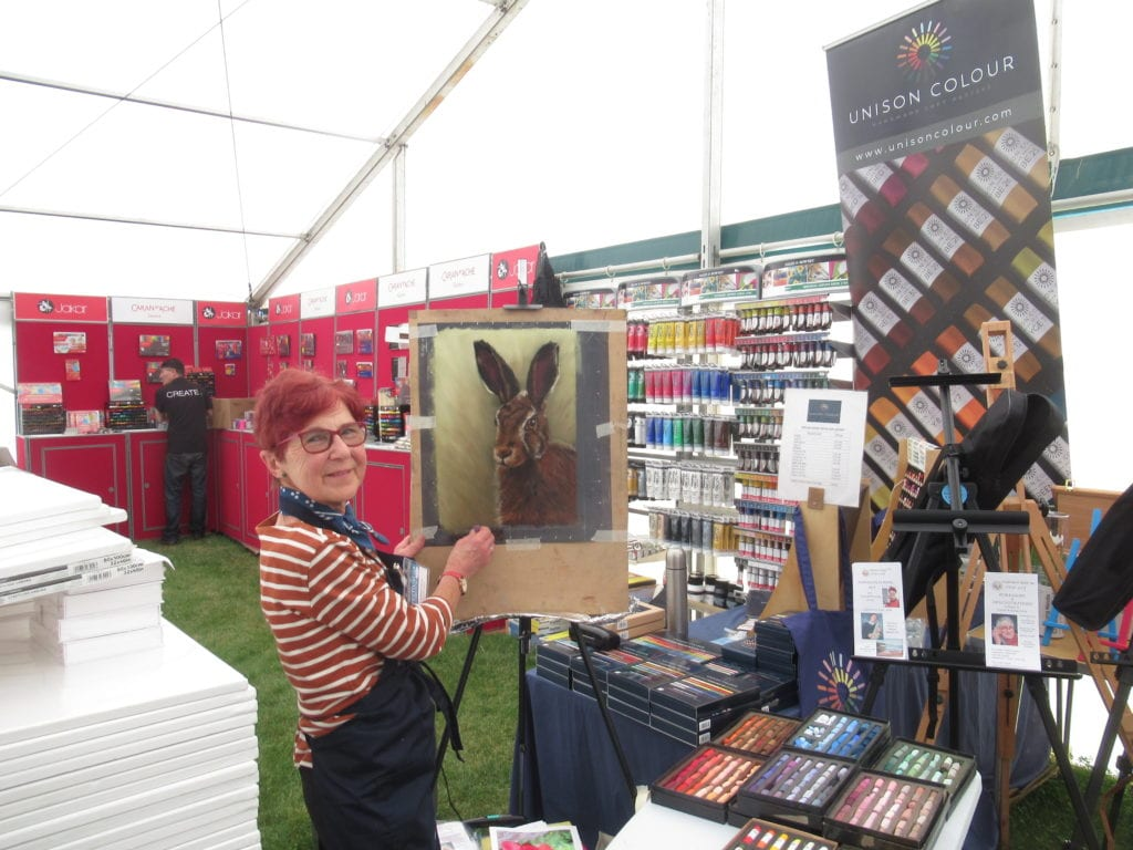 Cath Inglis giving demonstrations at Patchings.