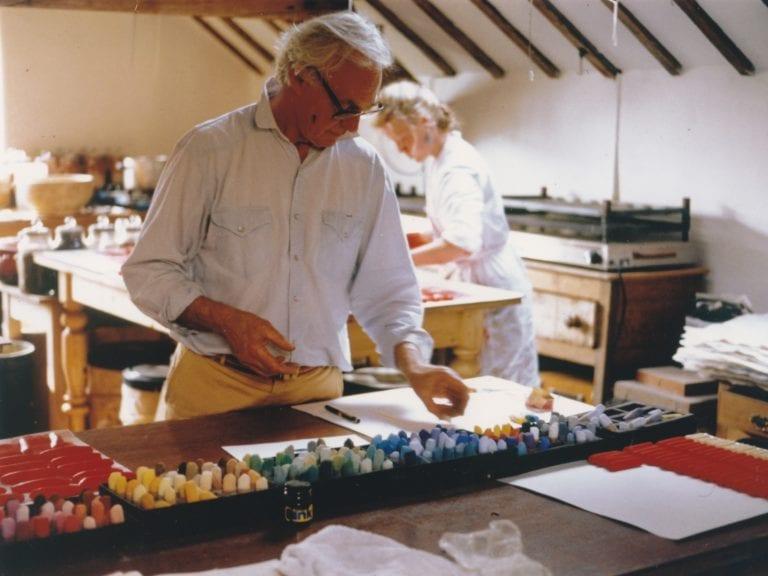 John at work in the studio.