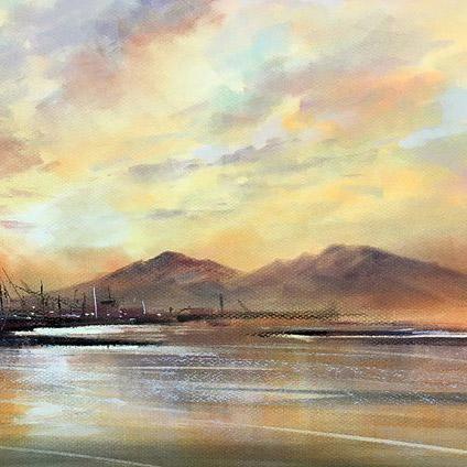 Les Darlow landscape piece.