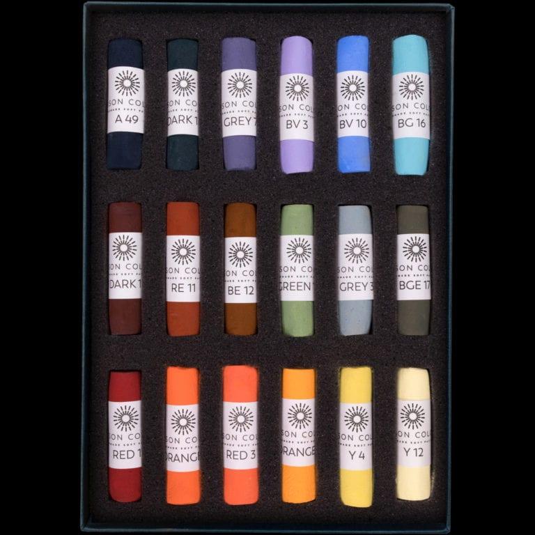 Les Darlow Landscape 18 set of pastels.