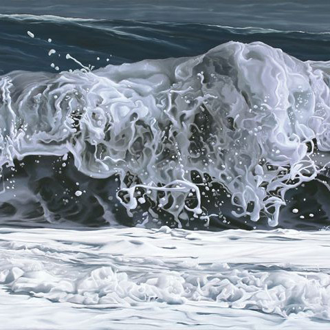 Waves pastel painting by Michelle Lucking.