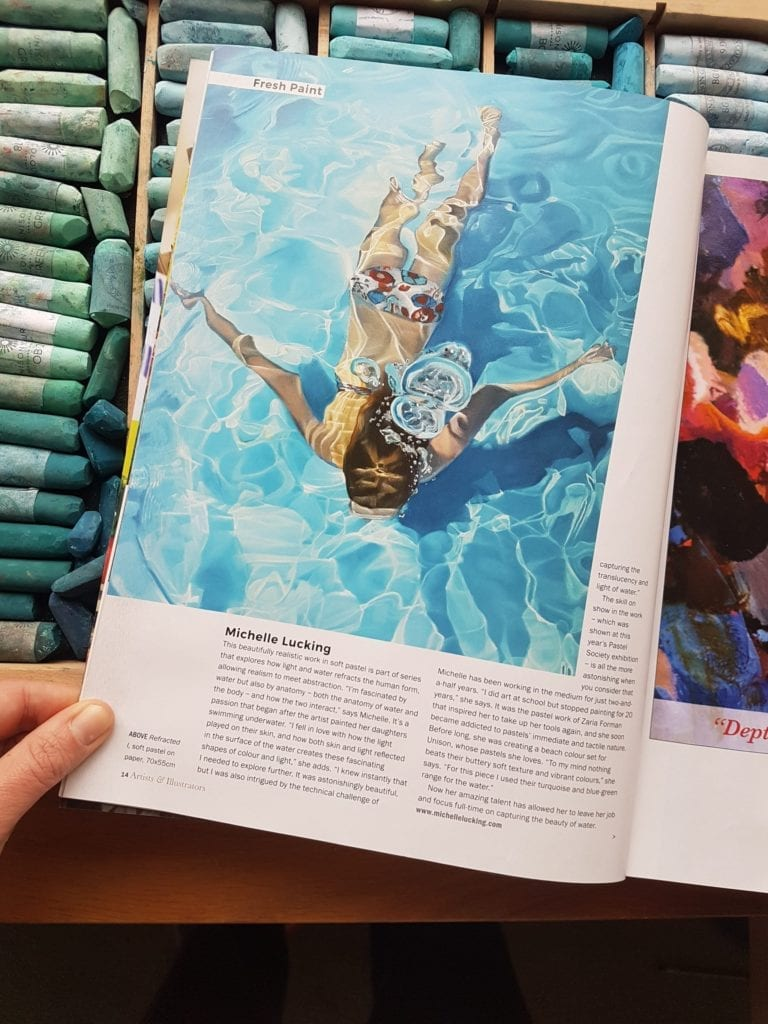 Artists & Illustrators Magazine feature Michelle Lucking 2