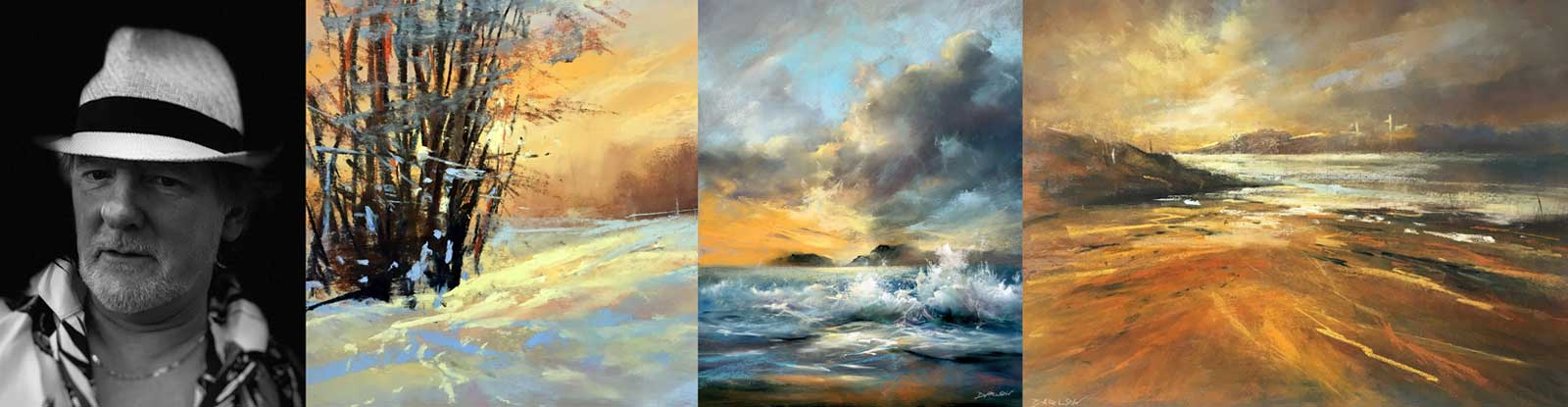 Montage of Les Darlow's landscape work.