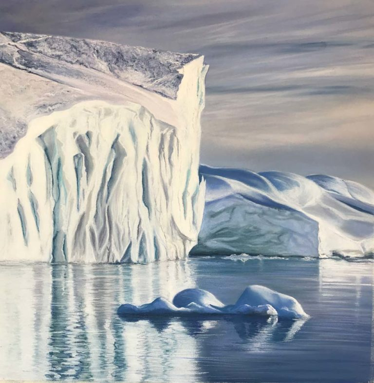 Iceberg artwork by Jennifer Thorpe.
