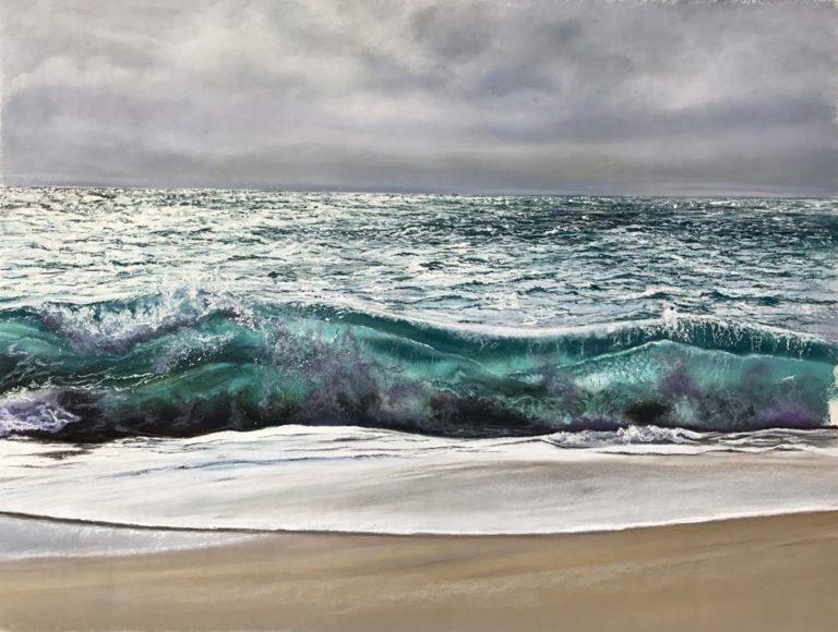Sea swell artwork by Jennifer Thorpe.