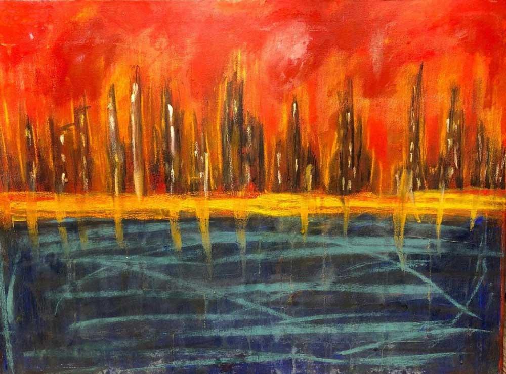 Pastel artwork by Nigel Smith