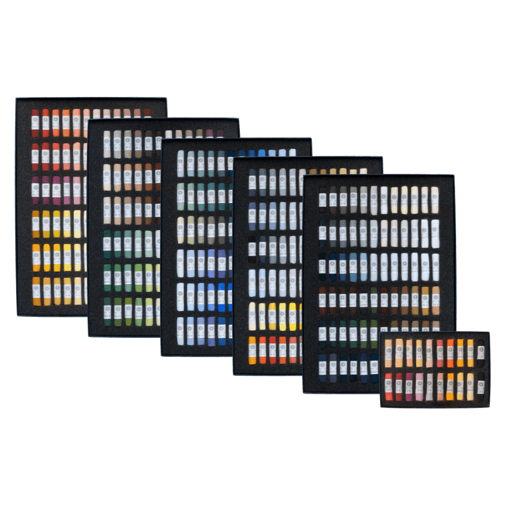 The full range of Unison Colour Soft Pastels.