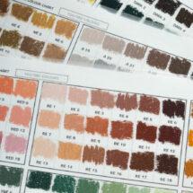 Hand Drawn Colour Chart.