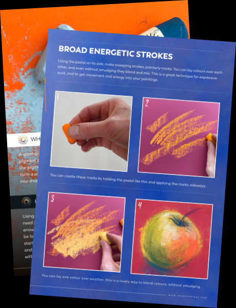 Inside pages of the Introduction To Soft Pastels PDF