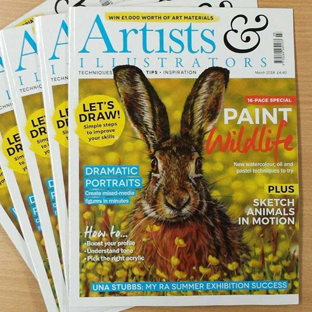 The front cover of a pastel artists magazine, featuring a painting of a rabbit, by Emma Colbert