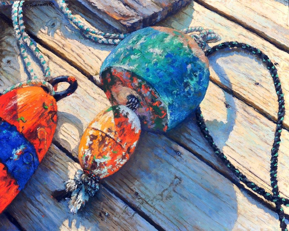 Buoys on the Wood, by Jeff Fioravanti.