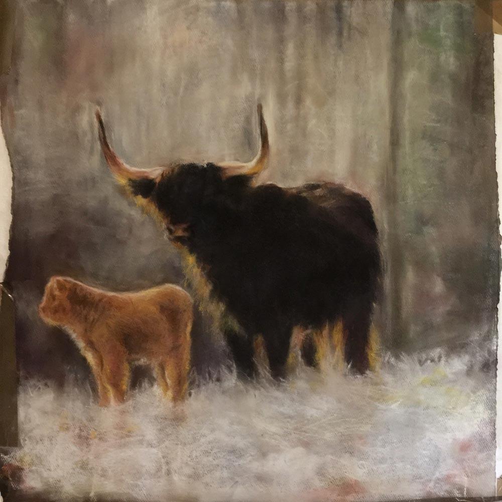 Pastel painting by Mridula Masi