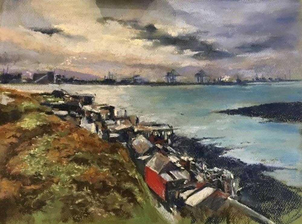 Pastel painting by Stuart Walton.