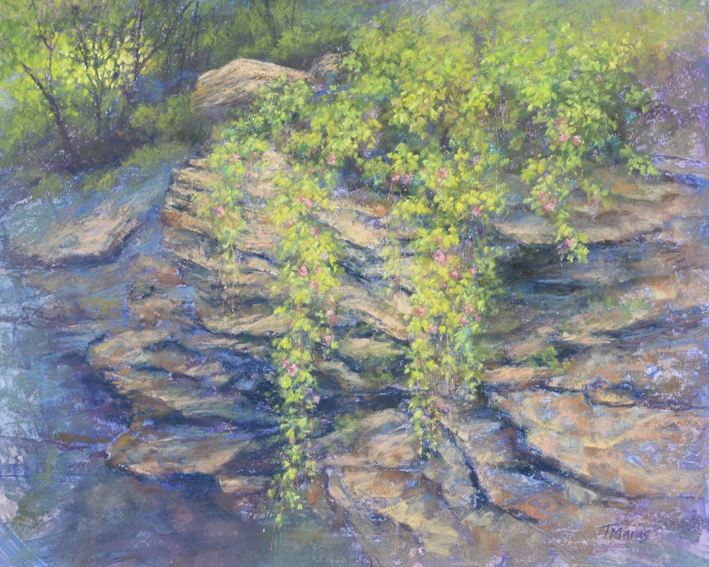 Cascades 1 - Revisiting a Painting, by Tracey Maras