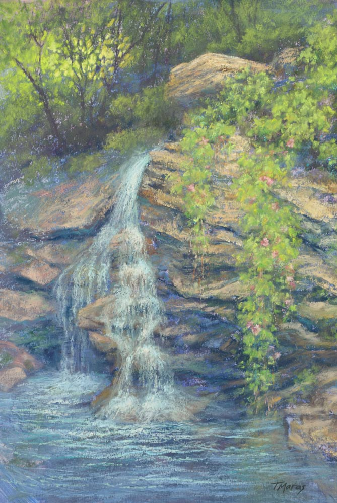 Cascades 2 - Revisiting a Painting, by Tracey Maras.
