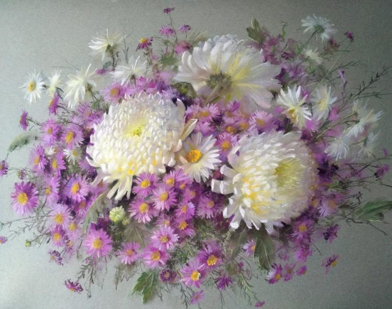 Flowers Pastel Painting, by Vera Kavura