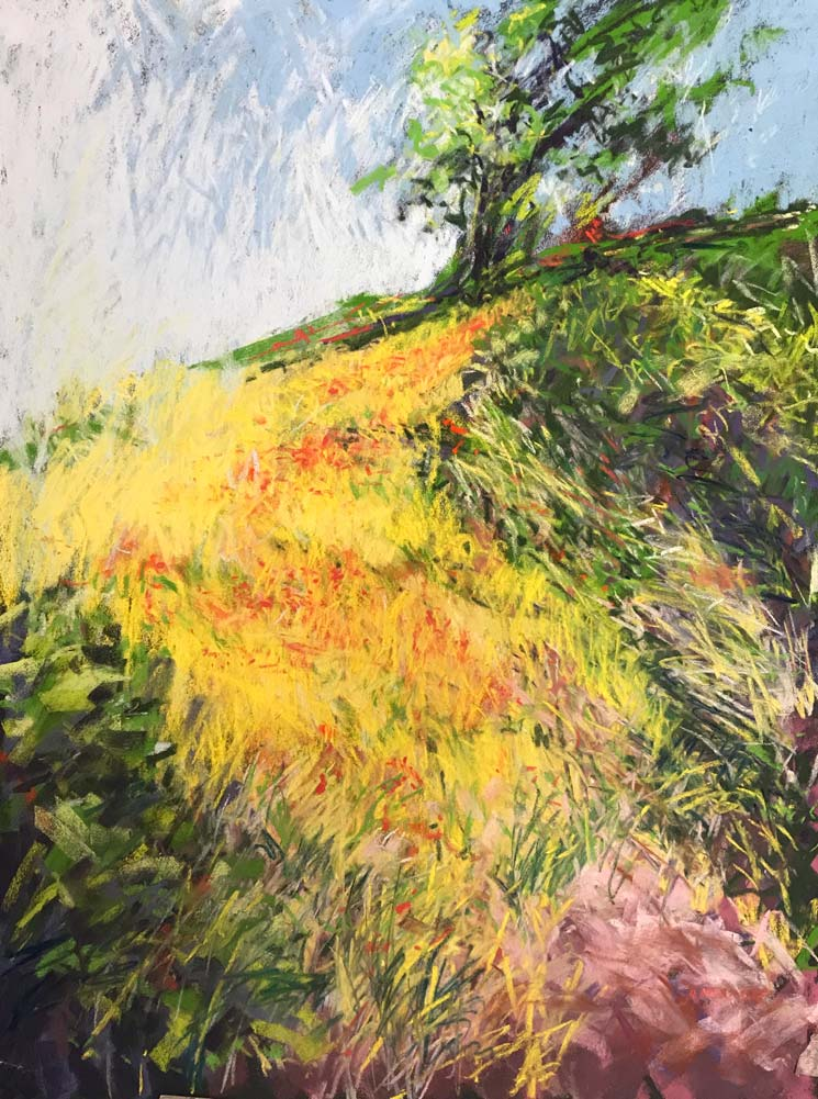 Landscape pastel painting by Andrew Moodie