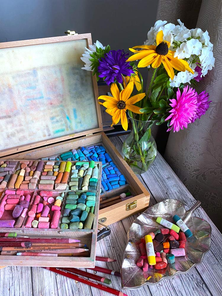 Natalia's pastel collection.