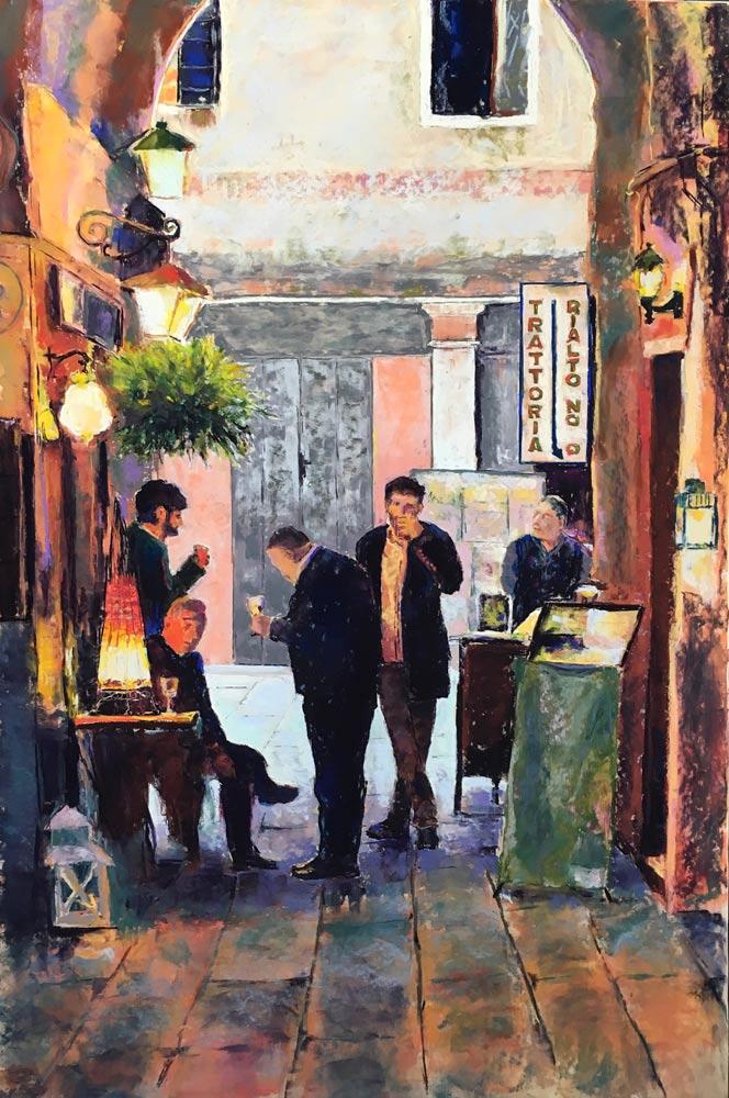 Trattoria Rialto, Venice, by Neva Rossi