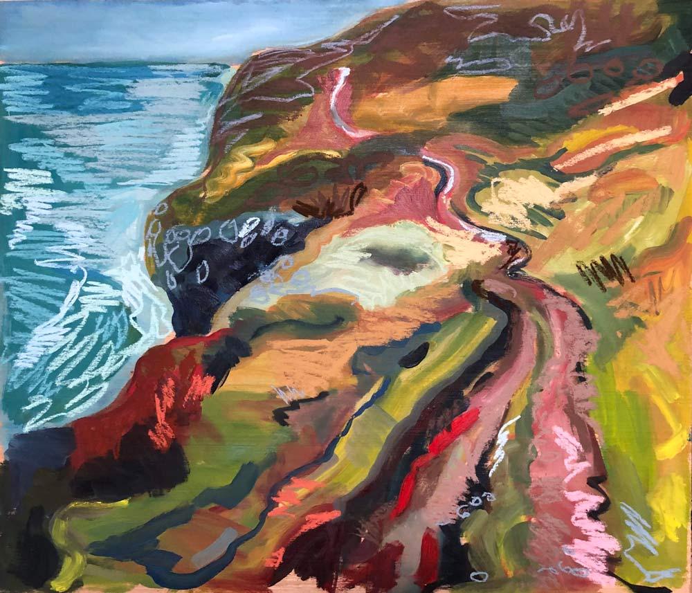 Cliff Path, North Coast, by Amy Shuckburgh.