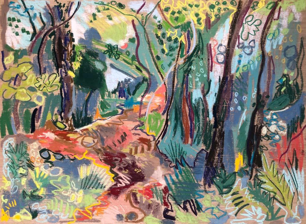 Inland path, Boscastle, by Amy Shuckburgh