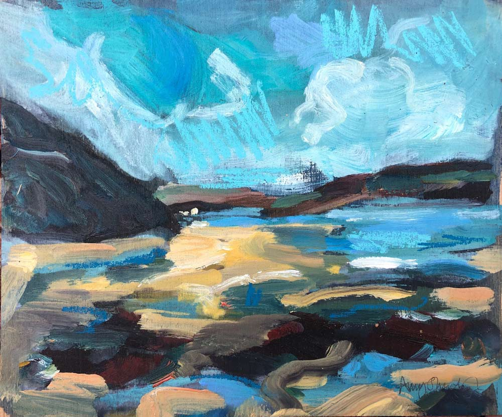 Rock pools on Daymer Bay, by Amy Shuckburgh