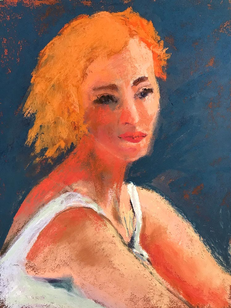 Girl with the Orange Hair, by Neva Rossi.