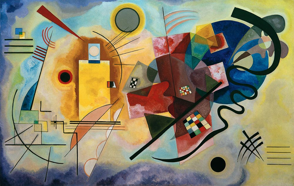 """Kandinsky's """"Yellow, Red and Blue""""."""