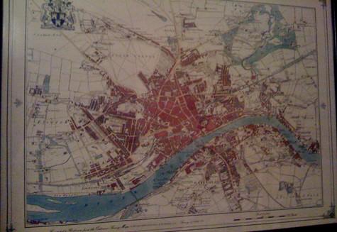 Map of Newcastle Upon Tyne.