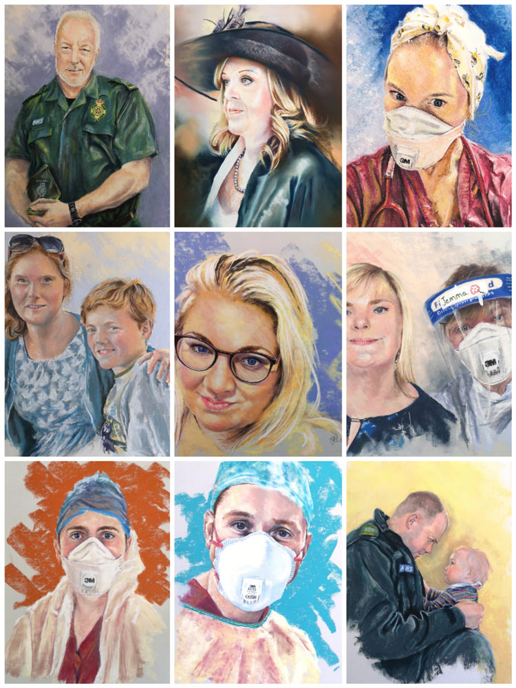 NHS Collage, by Estelle Robinson.