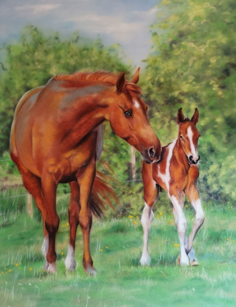 Mare and Foal, by Estelle Robinson.
