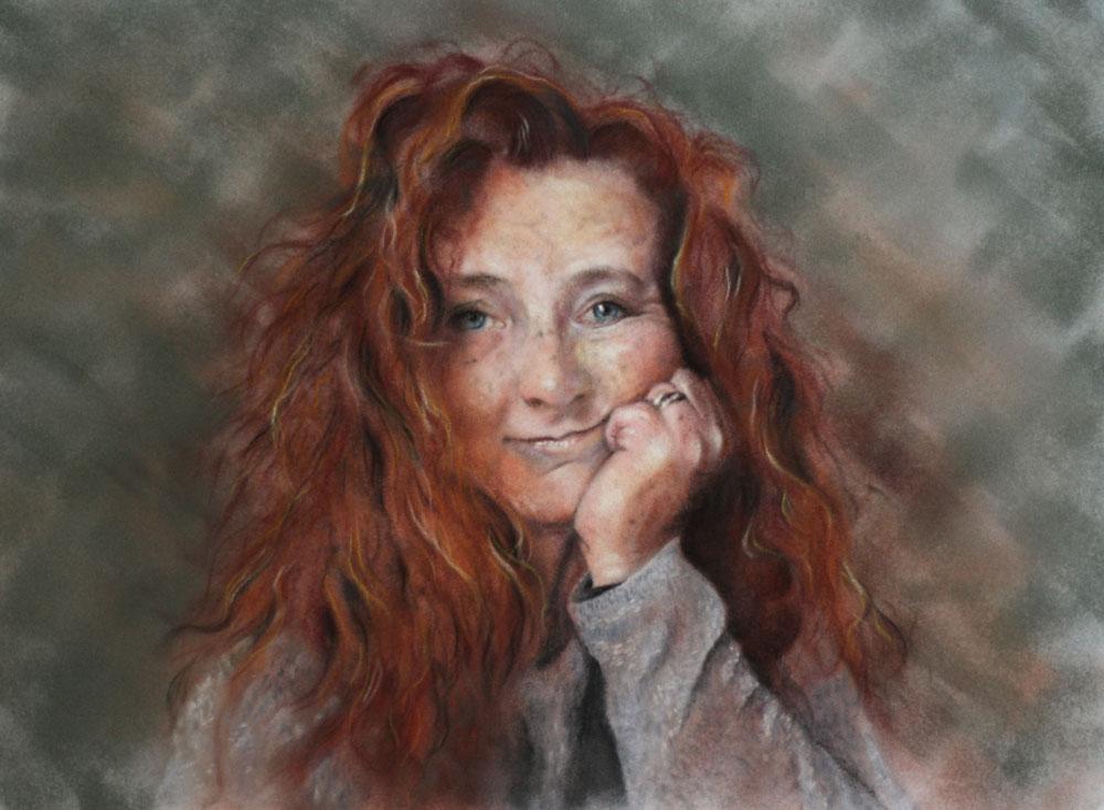 Self Portrait, by Estelle Robinson.
