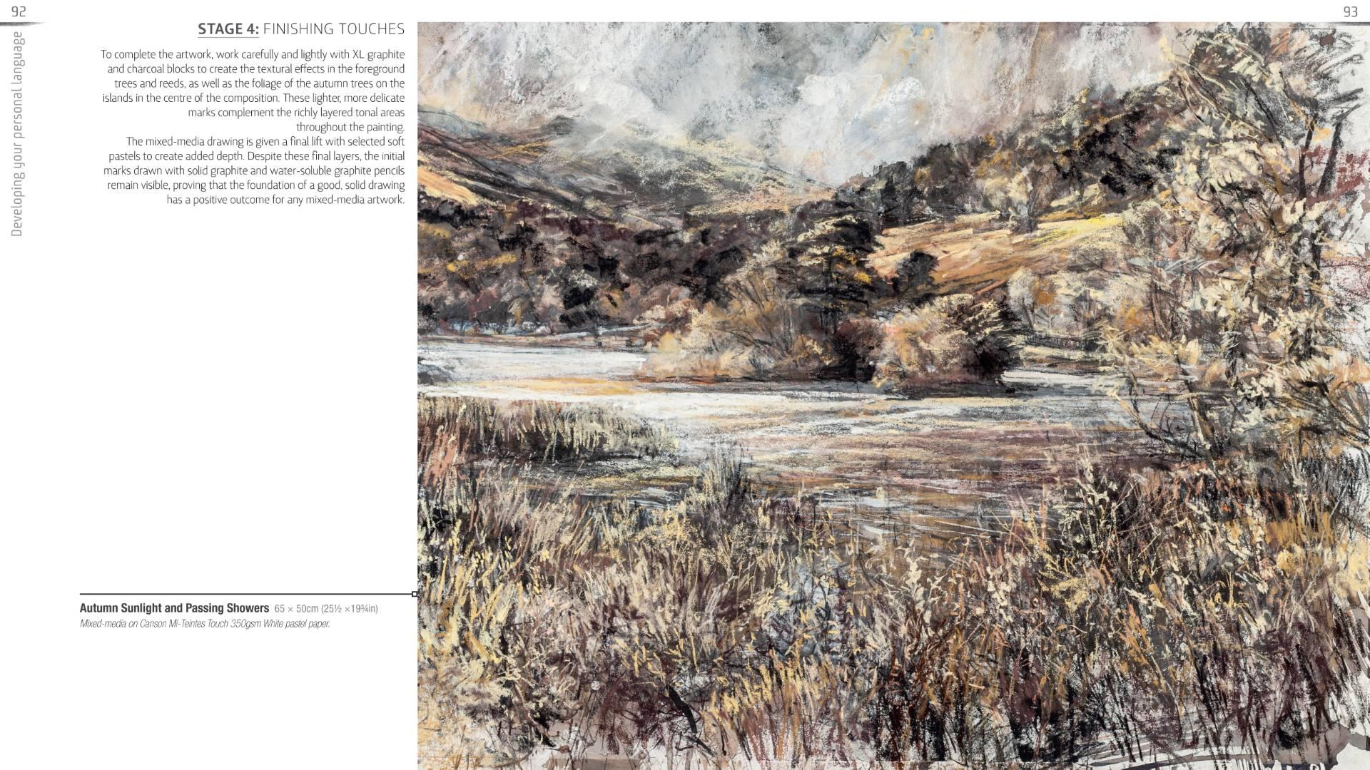 Landscape expression with Unison Colour pastels 12