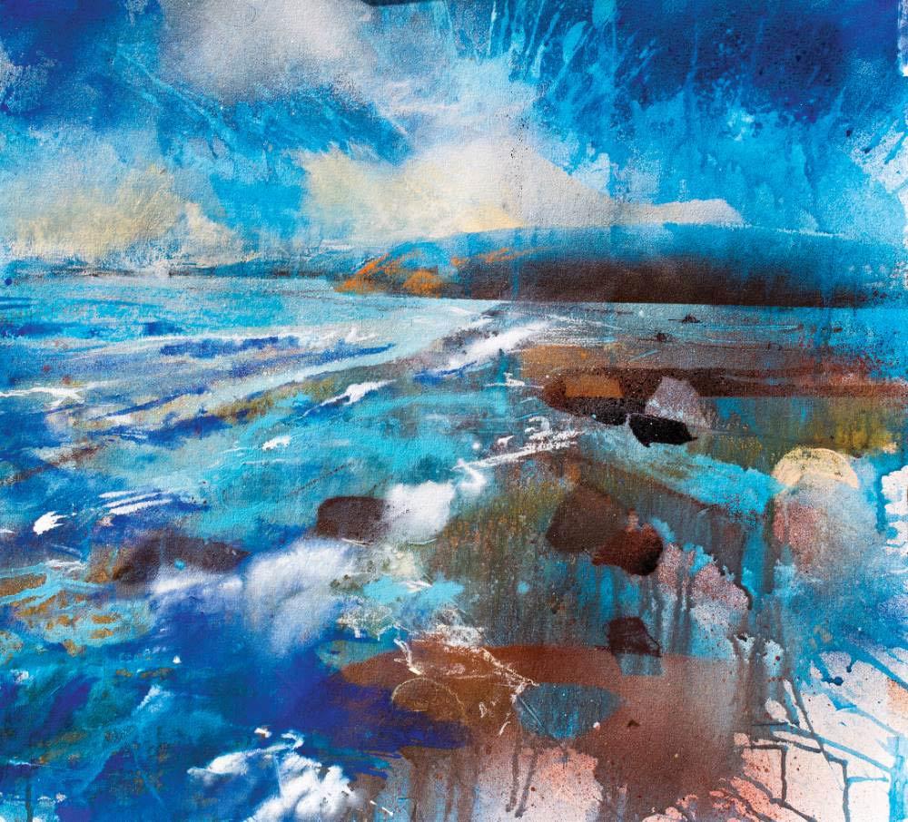 'Tidal Rush' pastel painting by Robert Dutton.