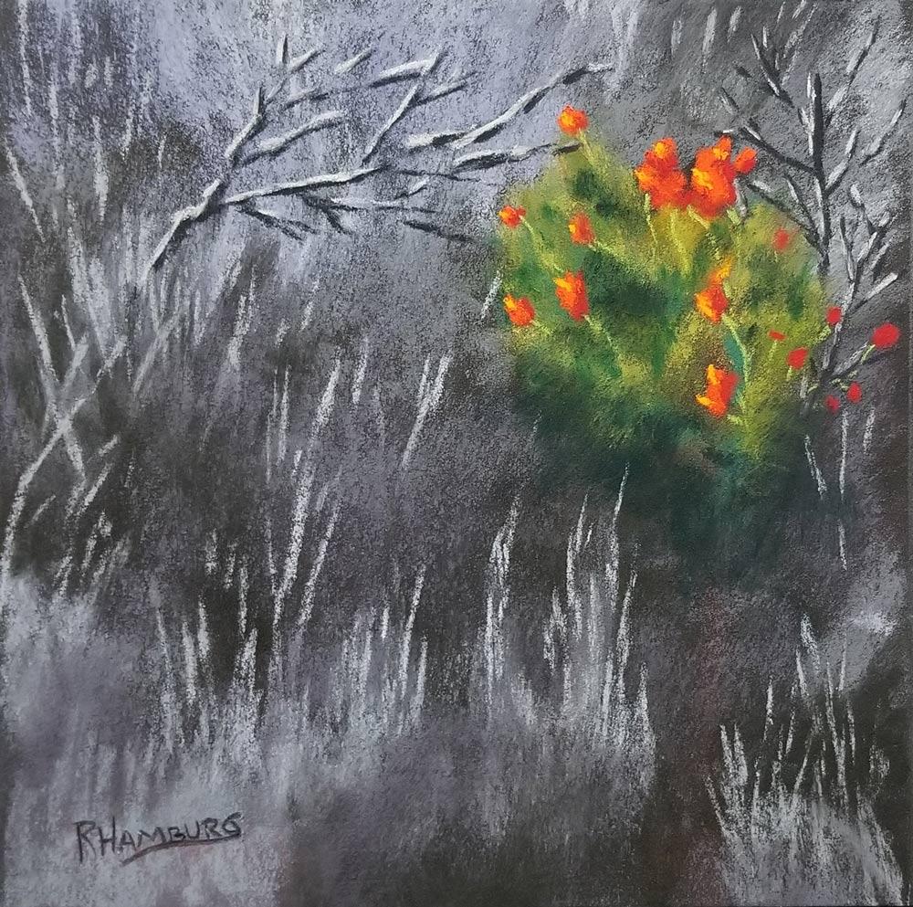 Gentle Blaze, pastel painting by Randy Hamburg.