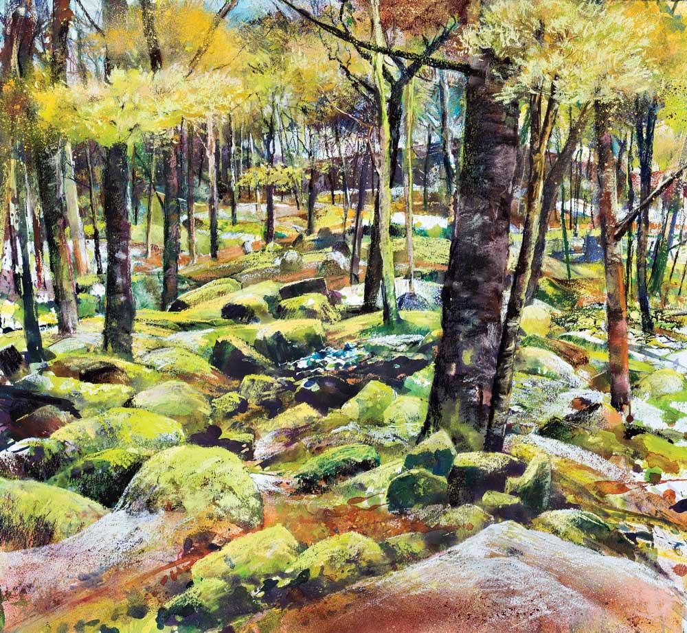Landscape expression with Unison Colour pastels 4