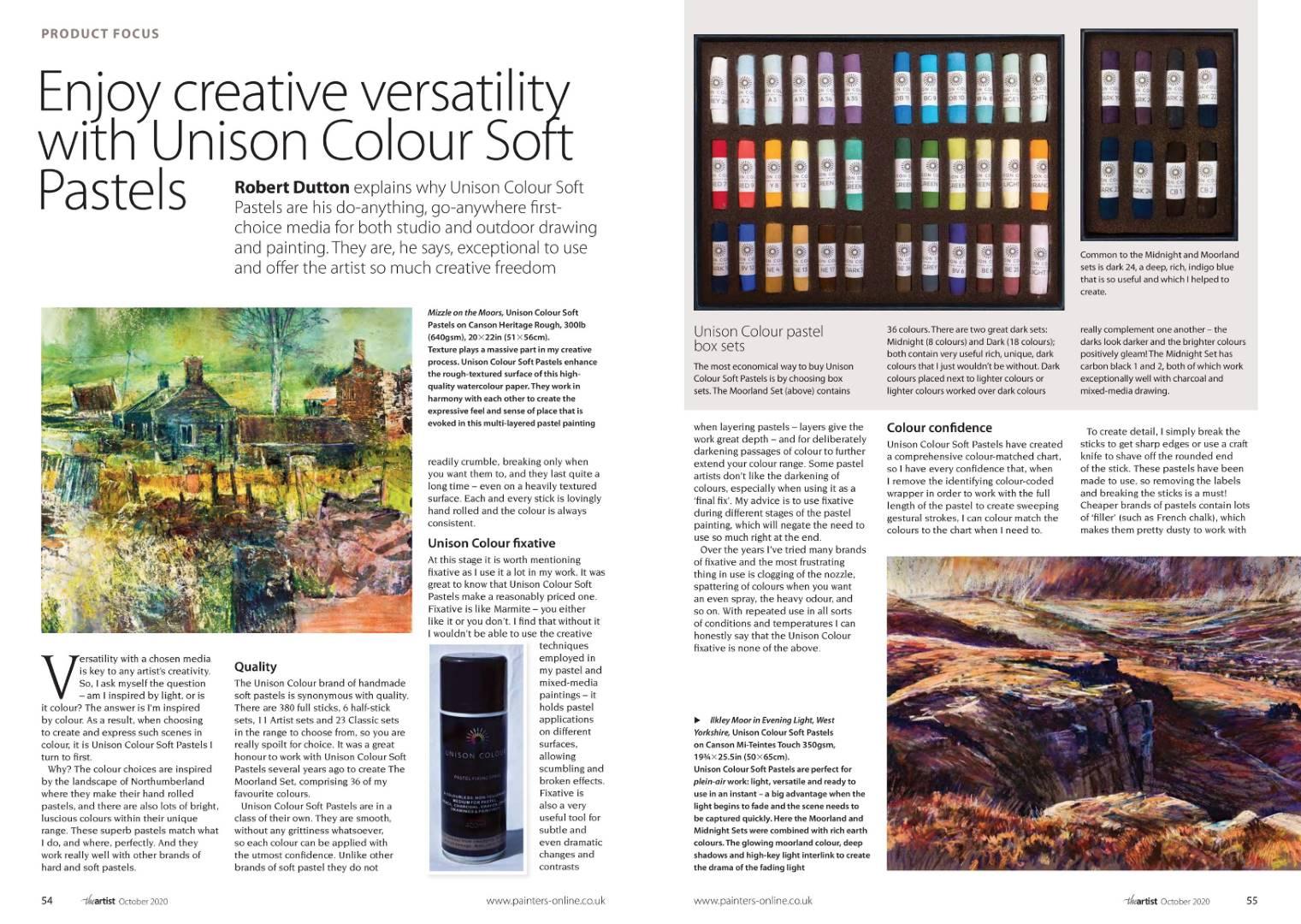 Landscape expression with Unison Colour pastels 18