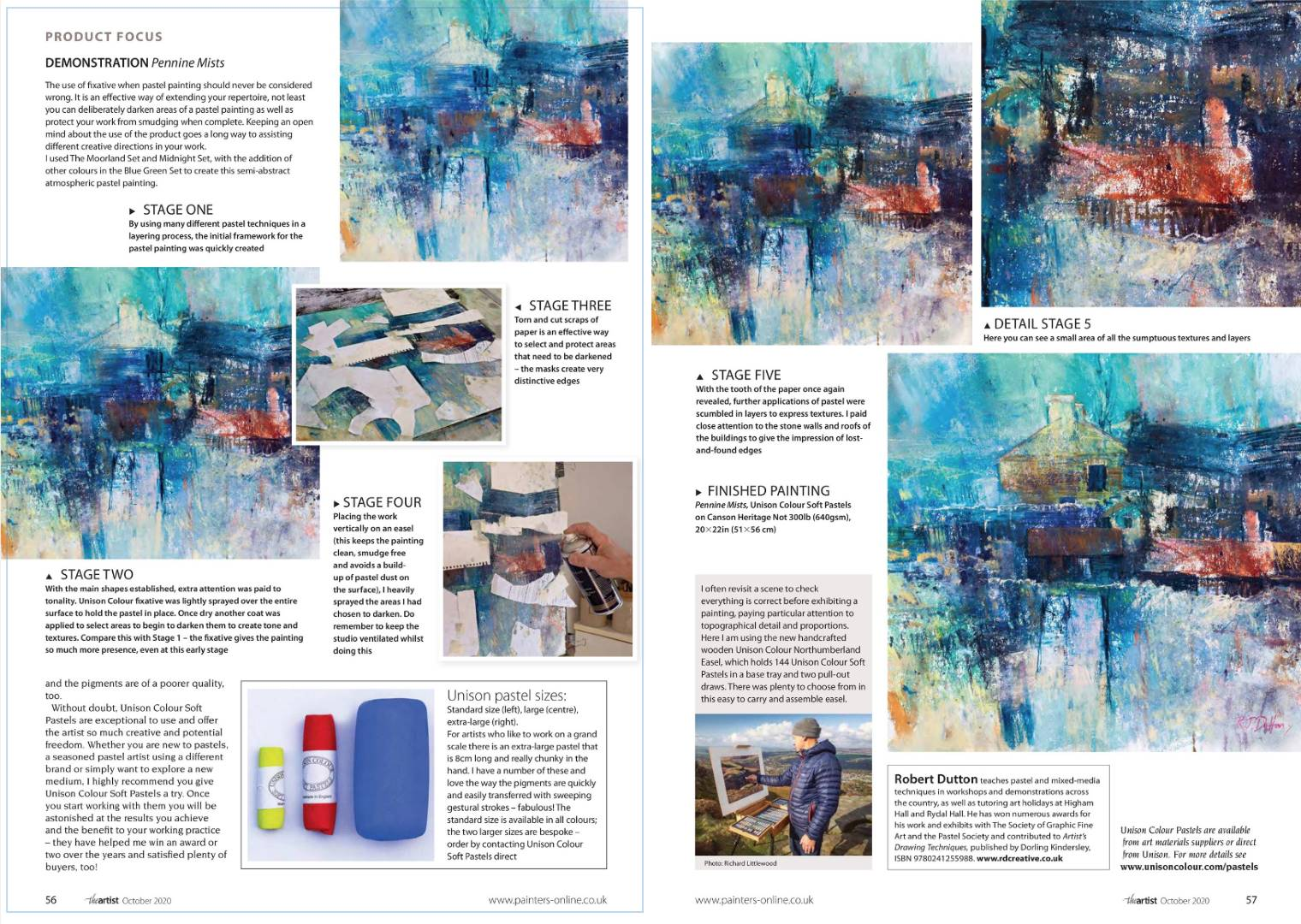 Landscape expression with Unison Colour pastels 17