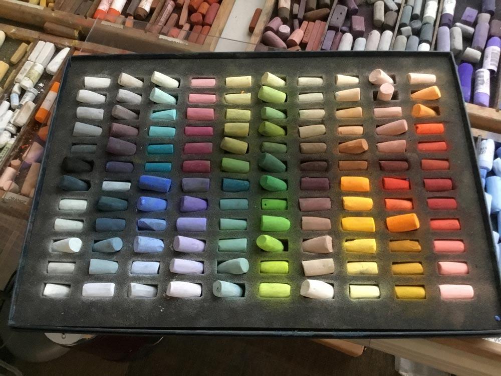 Alisa's 120 Half Stick set of Unison Colour pastels.