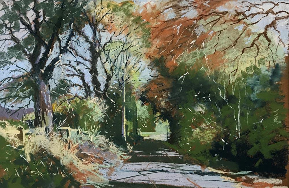 Autumn Lane near Dedham, by Steve Hall.