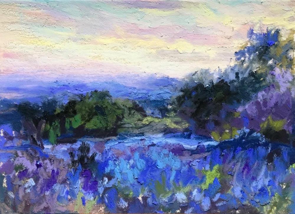 Bluebonnets- Master Copy of Onderdonk by Alisa Semones