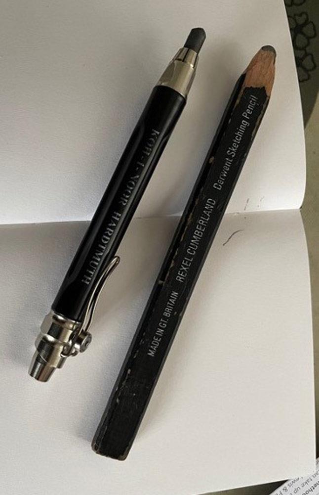 Stuart's pencils.