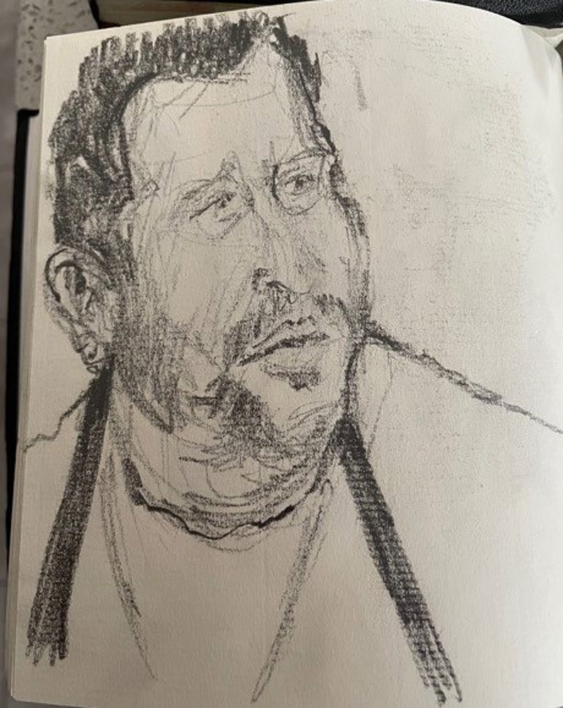 Stuart's sketches of character's from Masterchef.