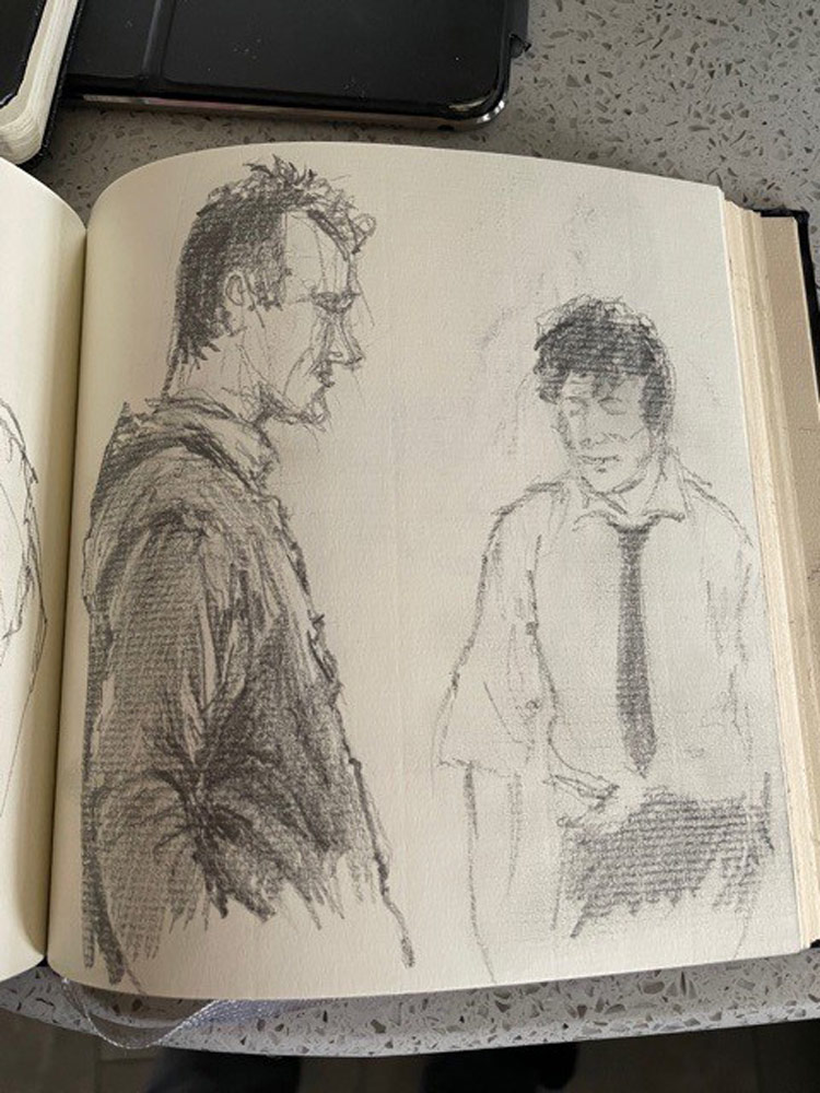 Stuart's sketches of character's from Outnumbered.