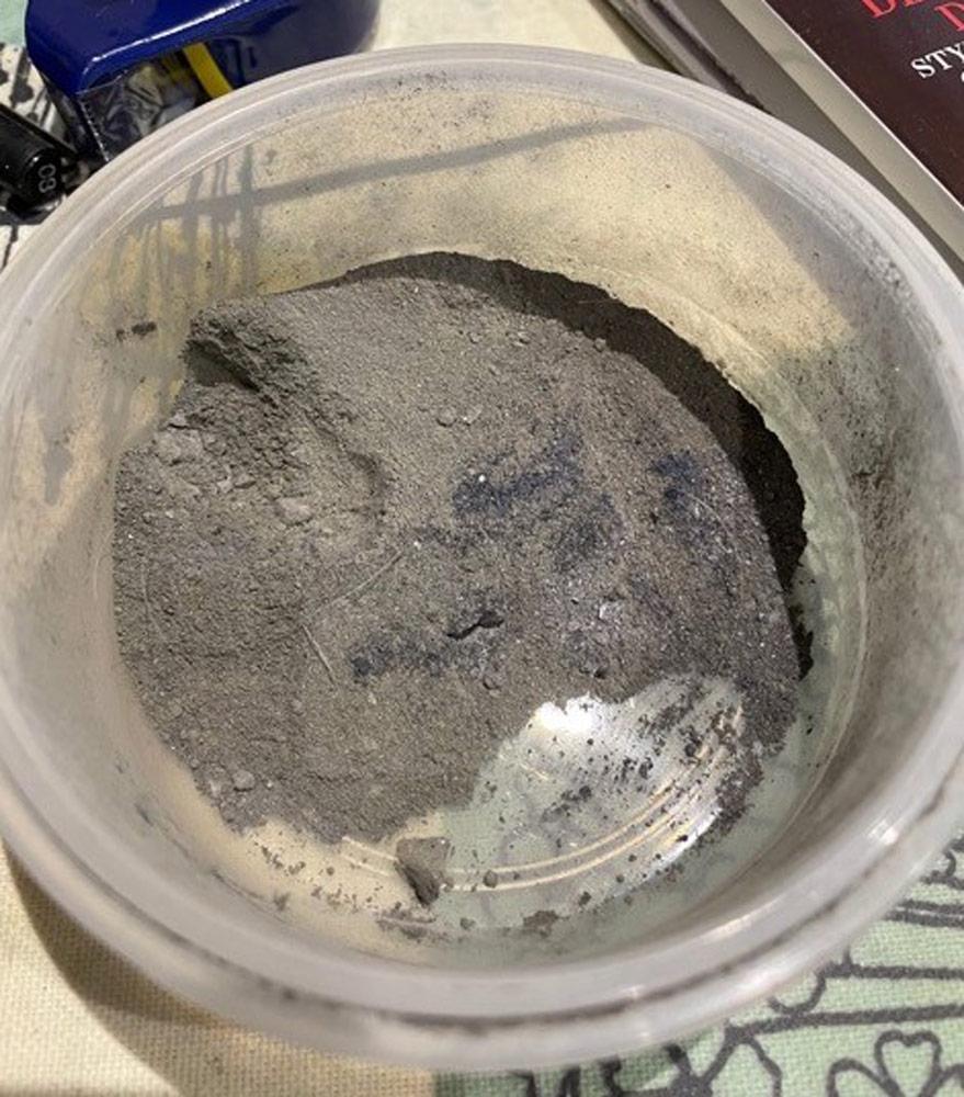 Pot of pastel dust.