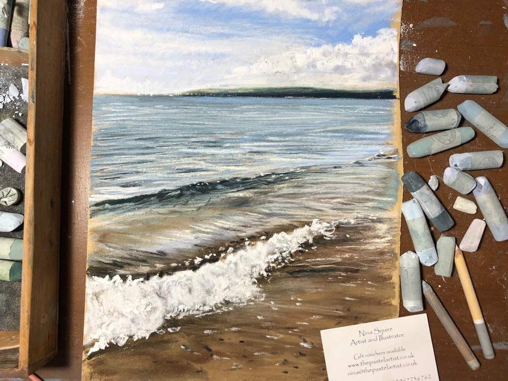 Beach painting by Nina Squire.